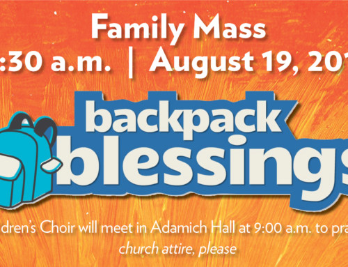 Family Mass / Backpack Blessing / Donation Collection